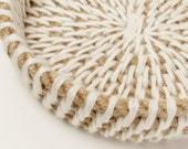 SALE! 50% OFF! Rope Bowl Jute Rope Bowl Rope Bag Cream Taupe Nautical Rope Bowl Beige Straw Bowl Woven Rope Bag Nautical Rope Bowl Woven