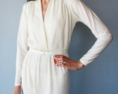 White 70s Felix Arpeo Marilyn cocktail dress - size S/M