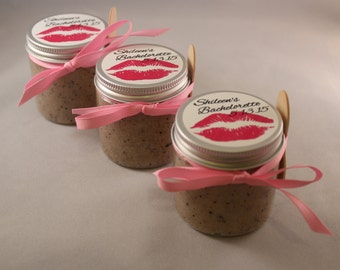 Vanilla Coffee Body Scrub Favor Birthday, Bachelorette, Bridal Shower, Wedding