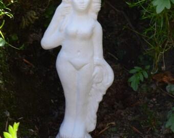 Replica Roman pottery Venus Figurine, ceramic votive figure statue, Greek temple of Aphrodite goddess of love archaeology pagan