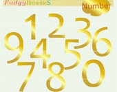 ON SALE Digital clip art  set , numbers clip art ,gold number, number 1 to 10 , for invites, cards, scrapbooking