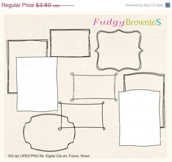 ON SALE Digital frame, circle frames clipart, white background frame, digital scrapbooking frames.A-09 , Instant download frame clip art