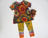 Tunic and Legging Set for Babies, Tie-dyed, Size 12 Months