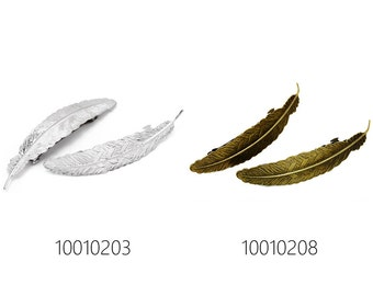 10pcs 112*23mm feather bezel hairpin barrette bobby pin, hair accessory 100102
