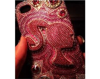 Custom Swarovski Crystal iPhone 5s Barbie Phone Case