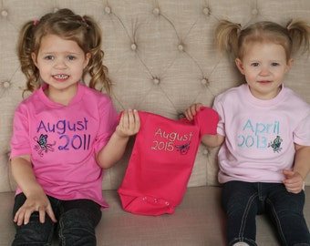 Birth Announcement Sibling Pack (3Shirts)