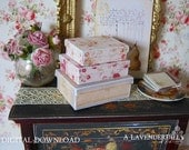 PDF Old Roses Box Set for Dollhouse Miniature 1/12 Scale DIGITAL DOWNLOAD