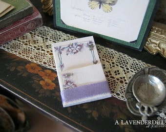 Wild Violet Notepad for Dollhouse Miniature