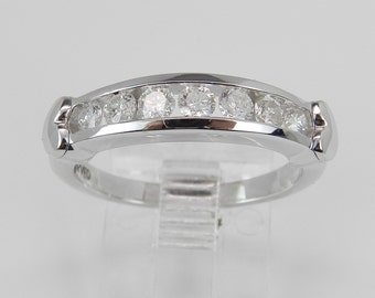 Diamond Wedding Ring Anniversary Band Size 7 Heart Design White Gold
