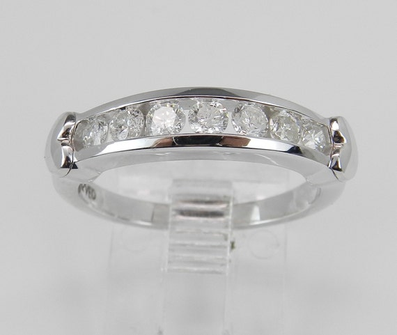 Diamond Wedding Ring Anniversary Band Size 7 Heart Design White Gold