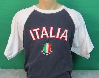 Italia Soccer Short Sleeve T-Shirt - Adult Medium - #591