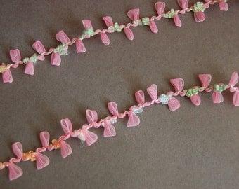 Pink Organza Trim