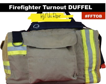 The Original Firefighter Turnout Bunker Gear Duffel Bag by Niki Rasor