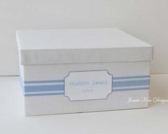 Baby Memory Box, Baby Keepsake Box, Baby Birthday, Baby Shower Card Box- Custom Order