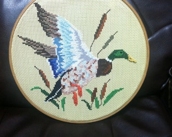 Mallard Duck Hoop Art