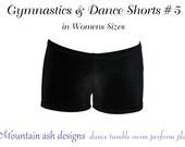 Gymnastics & dance shorts 5 pattern Ladies sewing pdf pattern ebook tutorial dance costume girls sizes 2-14