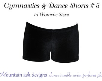 Gymnastics & dance shorts 5 pattern Ladies sewing pdf pattern ebook tutorial dance costume