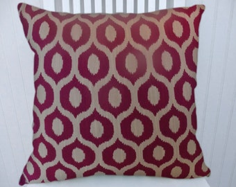 Fuchsia Decorative Pillow Cover-- Geometric Transitional Throw Pillow Cover  Accent Pillow Cover--18x18 20x20 or 22x22