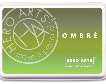 SaLE Hero Arts Ombre Ink Lime to Forever Green AF320
