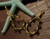 Gold filled Iolite gemstone earrings