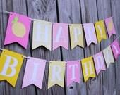 Lemonade Banner/ Lemonade/ Pink and Yellow Banner/ Pink Lemonade/ Happy Birthday Banner