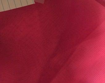Dark Pink Polyester Chiffon Fabric