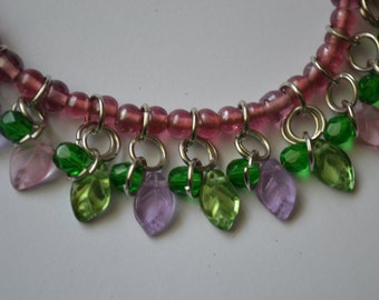 Leaf chain maille necklace