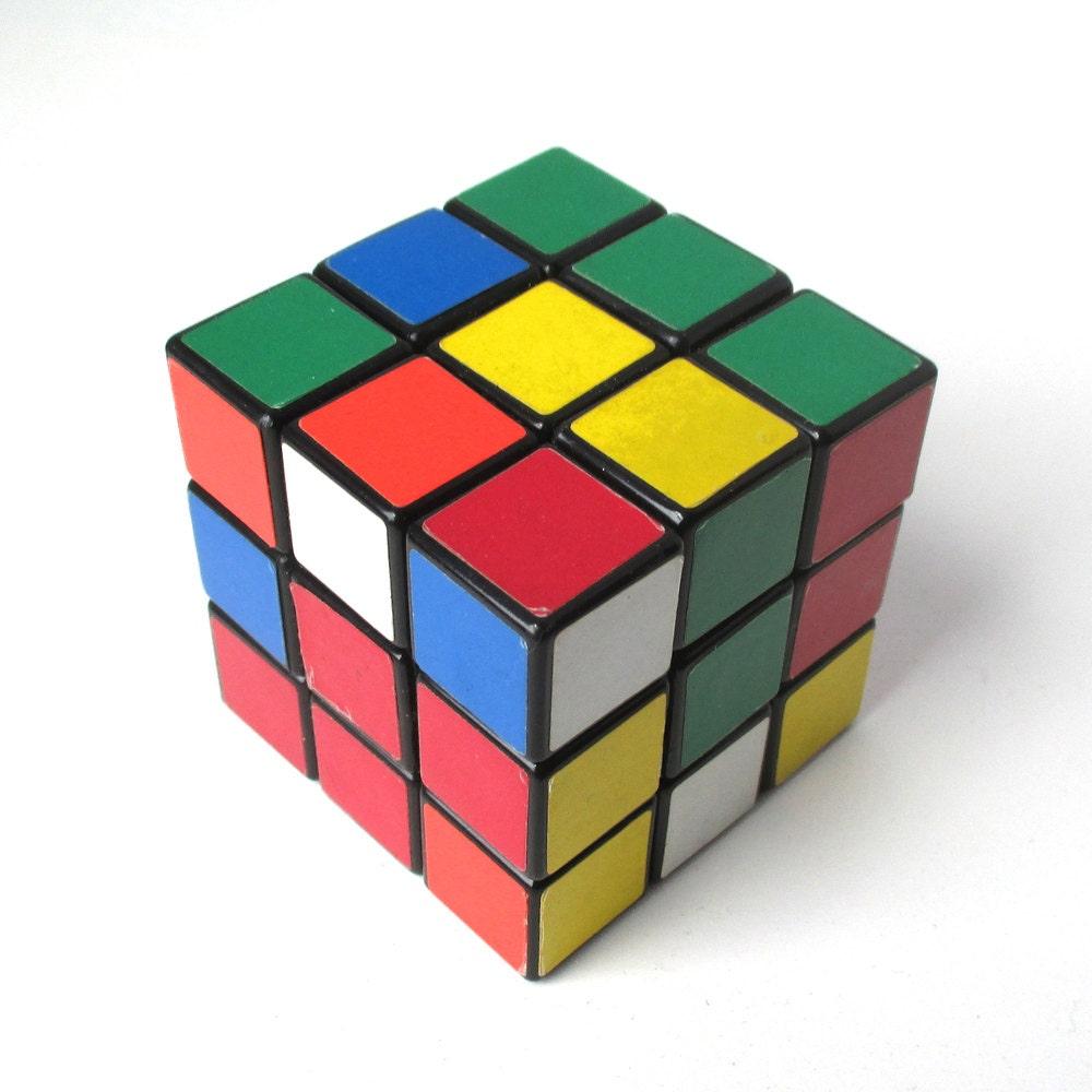Puzzles Games: Rubiks Cube 1980s Vintage Puzzle Game