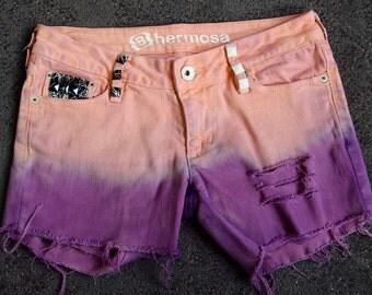 Peach/Purple (studded shorts)