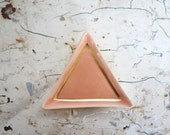 peach and gold triangle ring dish