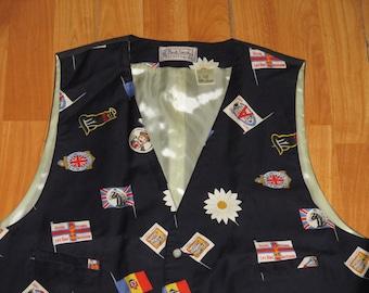 Rare Vintage 1980s Paul Smith Ornate Travel Vest