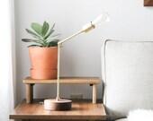 Langdon Desk Lamp- Modern Lighting, Industrial Brass Desk Lamp