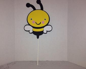 Cute Bee Cake Topper