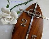 Vintage 25 Anniversary Cross Interlocking Rings Wood Plaque Celebration