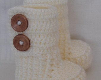 Knitted Baby Booties, Baby Shoes, Boots for Baby, Newborn Boots, Crochet Baby Booties,newborn,0-3, 3-6 months old baby