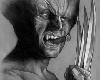 Wolverine Portrait Sketch