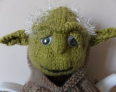 Hand Knitted Tea Cosy - Yoda in Brown Robe