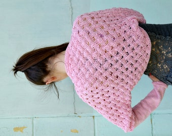 Knit  summer Bolero, Wedding Bridal Shrug ,Bridesmaid Gift, pink Bolero,Sleeves, Wrap, Evening Bolero