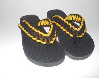 Paracord Flip Flops, custom flip flops, custom color flip flops, flip flops