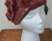 Becca Cook, Flapper hat, cloche 1920s style freeform crochet cap.