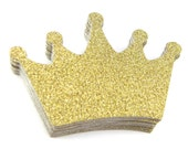 "2.5"" Glitter Crown Die Cuts set of 25"