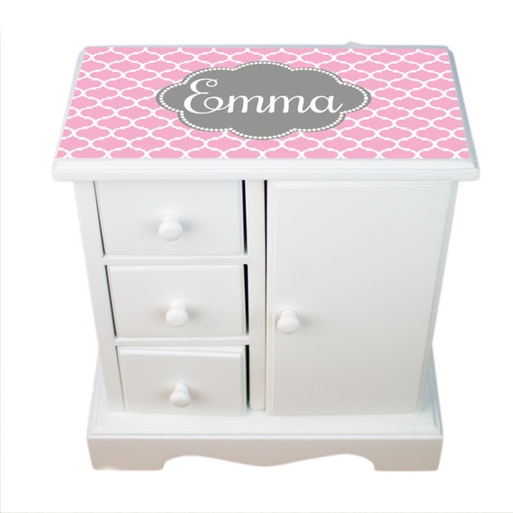 monogrammed musical jewelry box personalized jewerly by