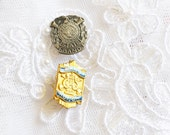 Lot of Two BAND Pins, Vintage Gold & SilverTone,  Enamel, Collectors Pin, Item No. B290