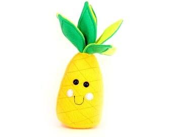 Pineapple stuffed toy, Pineapple plush toy, Kawaii Pineapple Plushie, Pocket sized food - READY TO SHIP