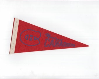 Vintage Hockey Pennant NHL Montreal Canadians Hockey Small 8 inch Pennant Flag 1969 Ice Hockey Pennant Felt Mini Pennant Sports Vintage