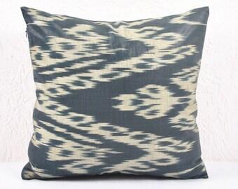 Ikat Pillow, Hand Woven Ikat Pillow Cover  a535-1aa1, Ikat throw pillows, Designer pillows, Decorative pillows, Accent pillows