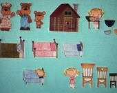 Goldilocks and the 3 bears flannel board story