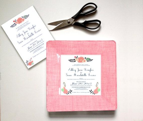 - unique wedding gift - keepsake for couples - wedding invitation ...
