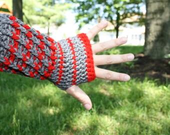 Buckeye Fingerless Wristlet Glove Ohio State