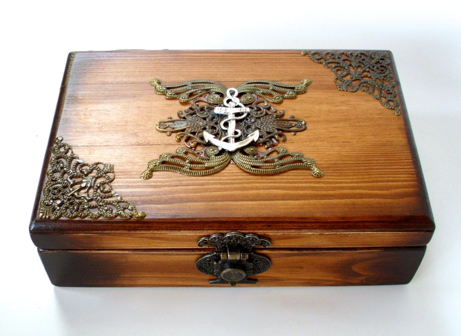 Nautical Wedding Cards Box Pirate by TheLysineContingency on Etsy